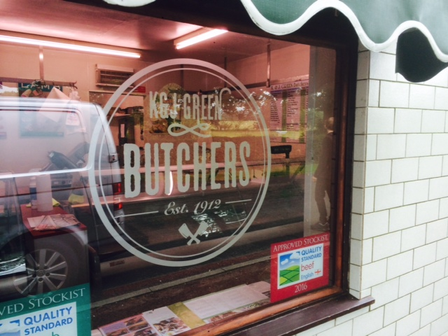 K&J Green Butchers Shop Front